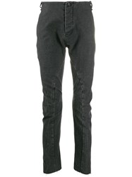 Masnada Drop Crotch Textured Trousers Black