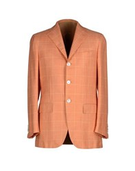 Kiton Suits And Jackets Blazers Men Orange