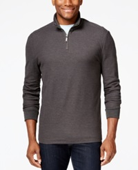 Club Room Big And Tall Performance Quarter Zip Sweater Only At Macy's Dark Charcoal