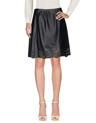 Annarita N. Skirts Knee Length Skirts Black