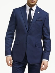 Ted Baker Bagel Birdseye Tailored Suit Jacket Navy