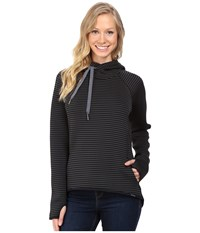 Columbia Castella Peak Hoodie Black Stripe Graphite Women's Sweatshirt