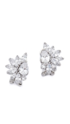 Kenneth Jay Lane Marquis Cluster Pear Cz Earrings Clear