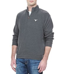 Peter Millar Gameday Texas Longhorns 1 4 Zip Fleece Pullover Charcoal