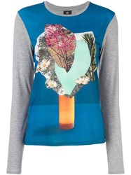 Paul Smith Ps By Vase Print T Shirt Grey