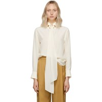 Chloe Off White Crepe De Chine Blouse