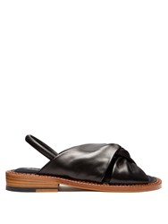 Robert Clergerie Bloss Leather Sandals Black