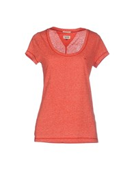 Tommy Hilfiger Denim Topwear T Shirts Women Coral