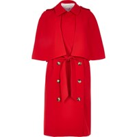 River Island Womens Red Cape Trench Coat