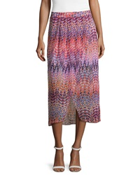 Laundry By Shelli Segal Pleated Printed Tulip Skirt Hibiscus Multi