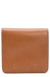 Frye Carson Small Leather Wallet Brown Cognac