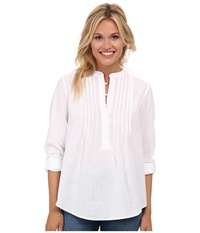 Lucky Brand White Peasant Shirt Lucky White Women's Blouse