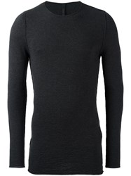 Forme D'expression Textured Crew Neck Jumper Grey