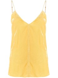 Forte Forte Ribbed Camisole Top Yellow