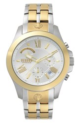 Versus By Versace Lion Chronograph Bracelet Watch 44Mm Silver Gold