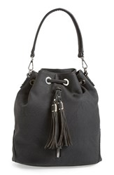 Phase 3 Tassel Faux Leather Convertible Bucket Bag Backpack