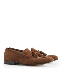 Reiss Thorpe Suede Tassel Loafers In Tan