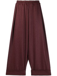 Toogood Baker Dropped Crotch Trousers Red
