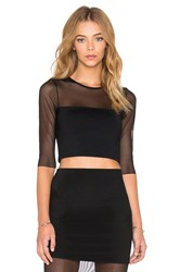 Donna Mizani Banded Crop Top Black