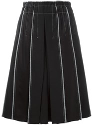 Dkny Exposed Seam Pleated Skirt Black