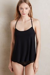 Anthropologie Lace Back Cami Black