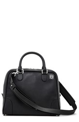 Loewe 'Small Amazona 75' Leather Satchel Black