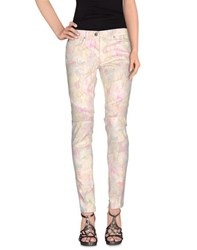 Camouflage Couture Denim Denim Trousers Women Beige