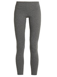 Track And Bliss Honeycomb Performance Leggings Grey