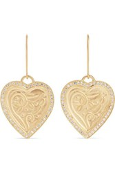 Ileana Makri Heart Beat 18 And 22 Karat Gold Diamond Earrings