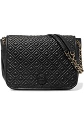 Tory Burch Marion Quilted Leather Shoulder Bag Black