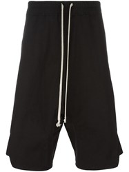 Rick Owens Dropped Crotch Track Shorts Black