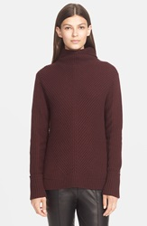 Vince Directional Rib Merino Wool Turtleneck Wysteria