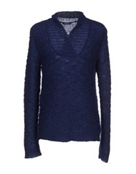 Balmain Turtlenecks Dark Blue