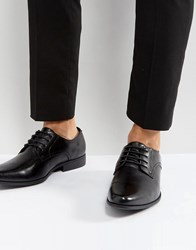 Asos Derby Shoes In Black Faux Leather Black