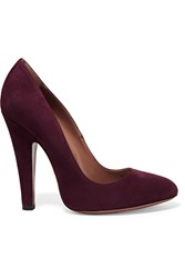 Alaia Suede Pumps Purple
