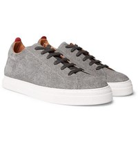 Ambleside Striped Nubuck Sneakers - GrayOliver Spencer rb4pXBzC