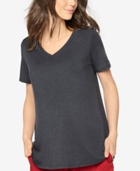 A Pea In The Pod Maternity V Neck Tee Charcoal