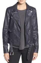 Women's 7 For All Mankind Coated Denim Moto Jacket