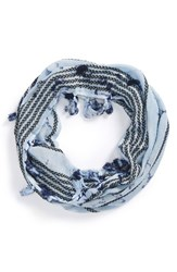 Women's Collection Xiix 'Ink Wash' Mini Infinity Scarf Blue Vintage Navy