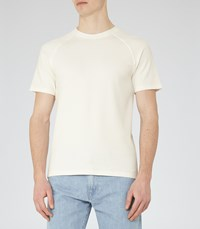 Reiss Byron Mens Waffle Weave T Shirt In White