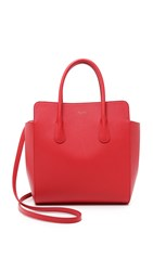 Nina Ricci Leather Satchel Rouge