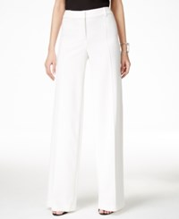 Alfani Pintucked Wide Leg Pants Only At Macy's White