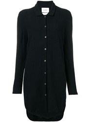 Barrie Cashmere Knitted Shirt Dress Black