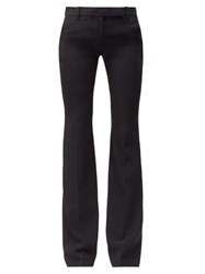 Alexander Mcqueen Wool Blend Flared Trousers Black