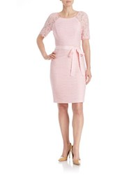 Nue By Shani Lace Sleeved Sheath Dress Petal