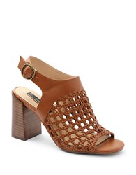 Kensie Sandria Ankle Strap Woven Sandals Tan