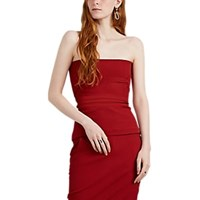 Rick Owens Cotton Blend Strapless Bustier Top Red
