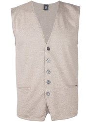 Eleventy Button Down Cardigan Vest Blue