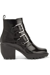 Opening Ceremony Glossed Leather Ankle Boots Black