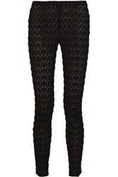 Missoni Crochet Knit Slim Fit Pants Black